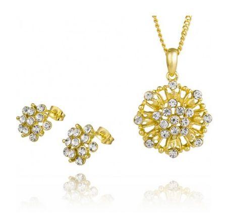Szukacie eleganckiego i kobiecego kompletu? Polecamy pozłacane kolczyki i zawieszkę z błyszczącymi kryształkami. Biżuteria odporna na ścieranie i nie uczula! :)  http://sklepmarcodiamanti.pl/…/komplet-zloty-model-mdltd-g…/  #marcodiamanti #komplet #kolczyki #zawieszka #kryształki #biżuteria