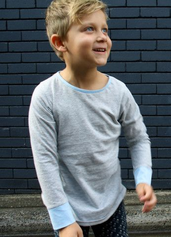 'Grey Marle' organic cotton long sleeve tee – Little Emperor