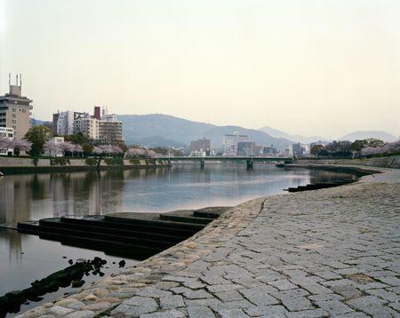 Looking Towards Sorazaya Bridge, Hiroshima, 06/04/2010, 6.08 (outlines)