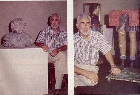 Jim Amaral con algunas de sus obras - Jim Amaral