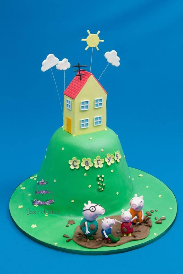 Peppa Pig Birthday Cake by Jakes' Cakes, Perth, Western Australia. You'll find this Cake Appreciation Society Member in our Directory at www.cakeappreciationsociety.com