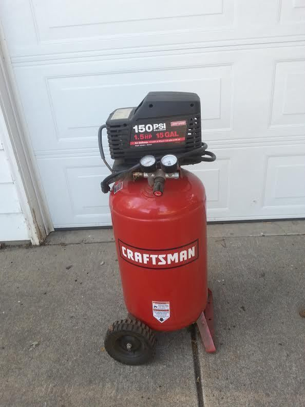 Craftsman Air Compressor 1 5 Hp 15 Gal For Parts Or Repair Craftsman Air Compressor Air Compressor Craftsman