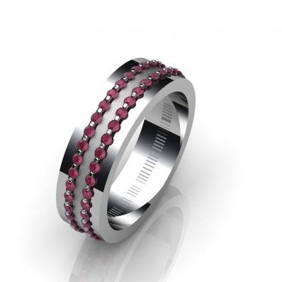 Δακτυλίδι 18Κ δεμένο με Ρουμπίνια Δ0126