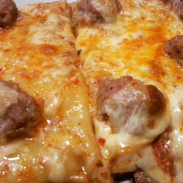 Pizza con la ndujia salsiccia e provola #MeloPorti#SoloiMiglioriLocali