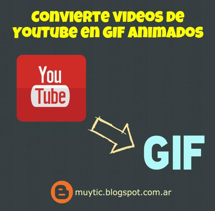 2 sitios para convertir videos de YouTube en GIF animados en 6 pasos | TIC para la educación