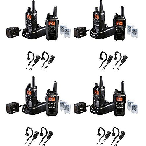 Midland 36-Channel 2-Way Radios with 30-Mile Range and Midland AVPH4 Headsets - 8 Pack. Features: 22 Channels Plus 14 Extra Channels - Crisp, clear communication with easy button access Xtreme Range* - Up to 30 miles 121 Privacy Codes - Gives you up to 2662 channels options to block other conversations NOAA Weather Alert Radio with Weather Scan - Automatically locks on to your local weather channel and alerts you to severe weather Silent Operation - Turns off all tones HI/LO Power Settings…