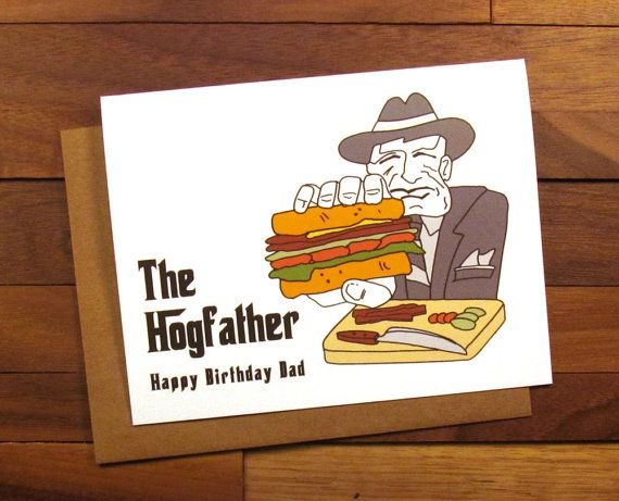 Funny Birthday card - The Godfather - Father Birthday Card - The Hogfather - The Godfather Birthday Card for Dad