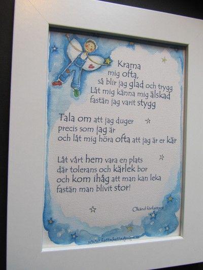Bildresultat för dikt till ett barn