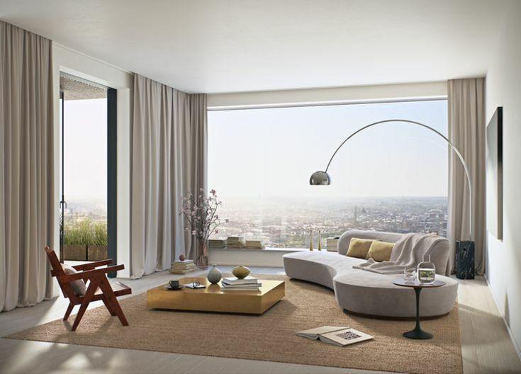 diseos de cortinas modernas para saln