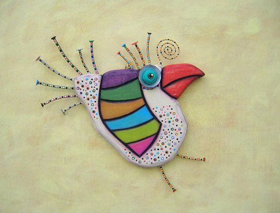 Spring Chicken MADE to ORDER Original Found Object por FigJamStudio