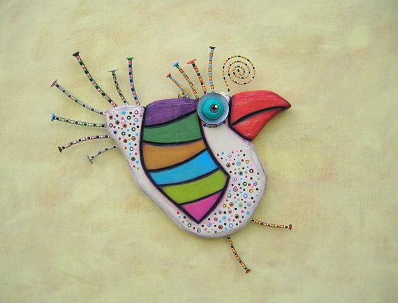 Spring Chicken MADE to ORDER Original Found Object por FigJamStudio
