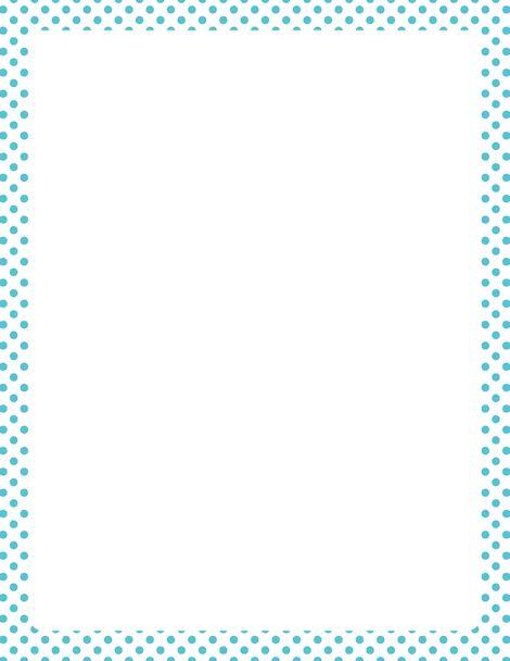 Royal Blue Polka Dot Border Printable blue and whi...