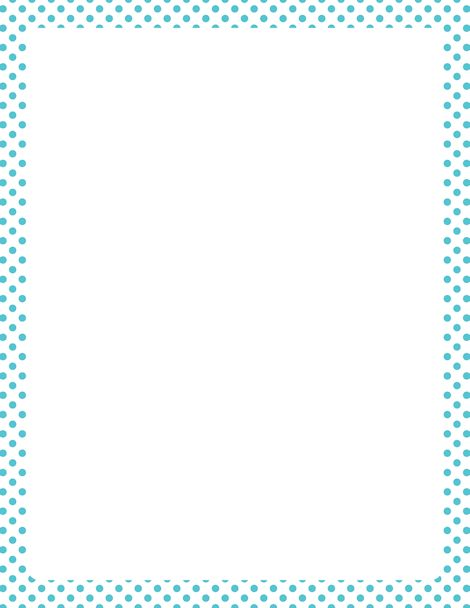 Printable blue and white polka dot border. Free GIF, JPG, PDF, and PNG downloads at http://pageborders.org/download/blue-and-white-polka-dot-border/. EPS and AI versions are also available.