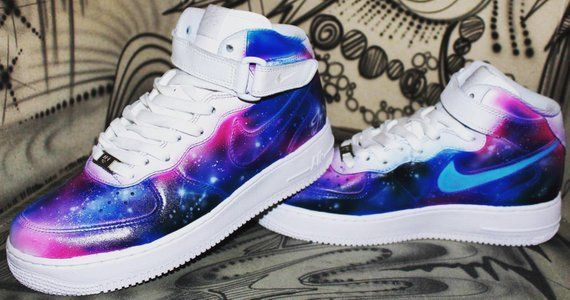Painted ShoesAlec Nike Air Galaxy Mid Style Force 1 Airbrush Monopoly bIfg76yYv