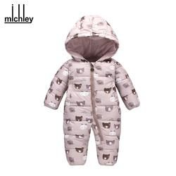 Newborn Winter Thick  Hooded Jumpsuits