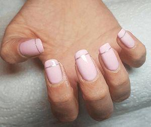 rose pale et argentée #manucure #manucurerose #ongles #rose #vernis #nailart #vernisrose #nailartrose #monvanityideal