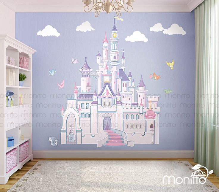 17 best ideas about disney princess bedroom on pinterest for Barbie princess giant wall mural