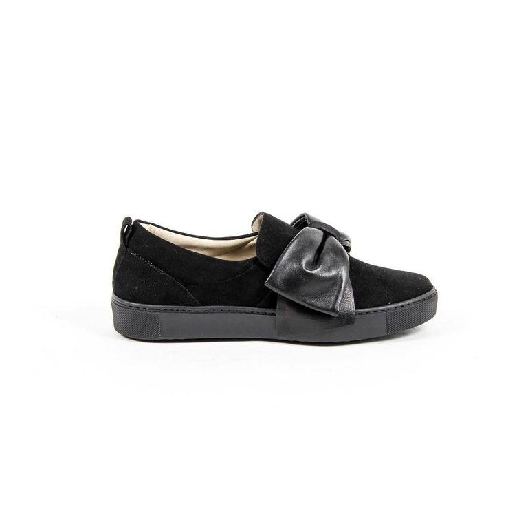 37 IT - 7 US Versace 19.69 Abbigliamento Sportivo Srl Milano Italia Womens Slip On Sneaker 302076 CAMOSCIO NERO-NAPPA NERO