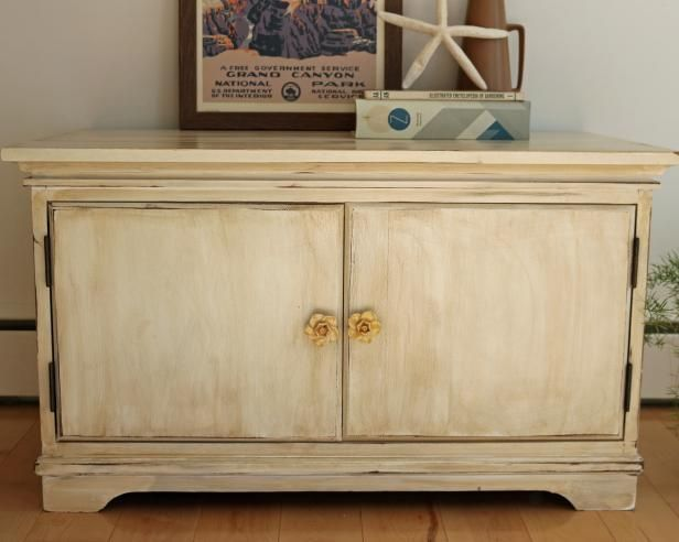 Learn how to give a piece of wood furniture an antique look.