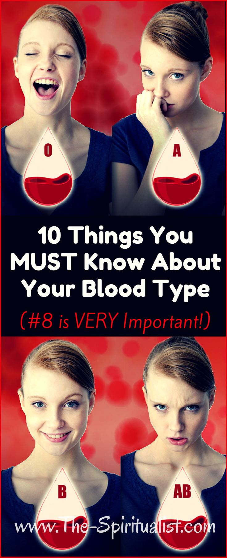 10 Things You MUST Know About Your Blood Type.......