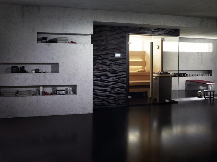 159 best sauna images on Pinterest Bathroom, Half bathrooms and - küche schwarz braun