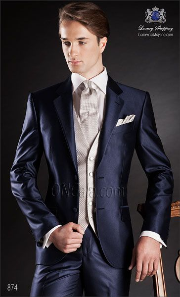Traje de novio azul 874 ONGala Wedding suit