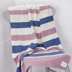 Stripy Wool Baby Blanket