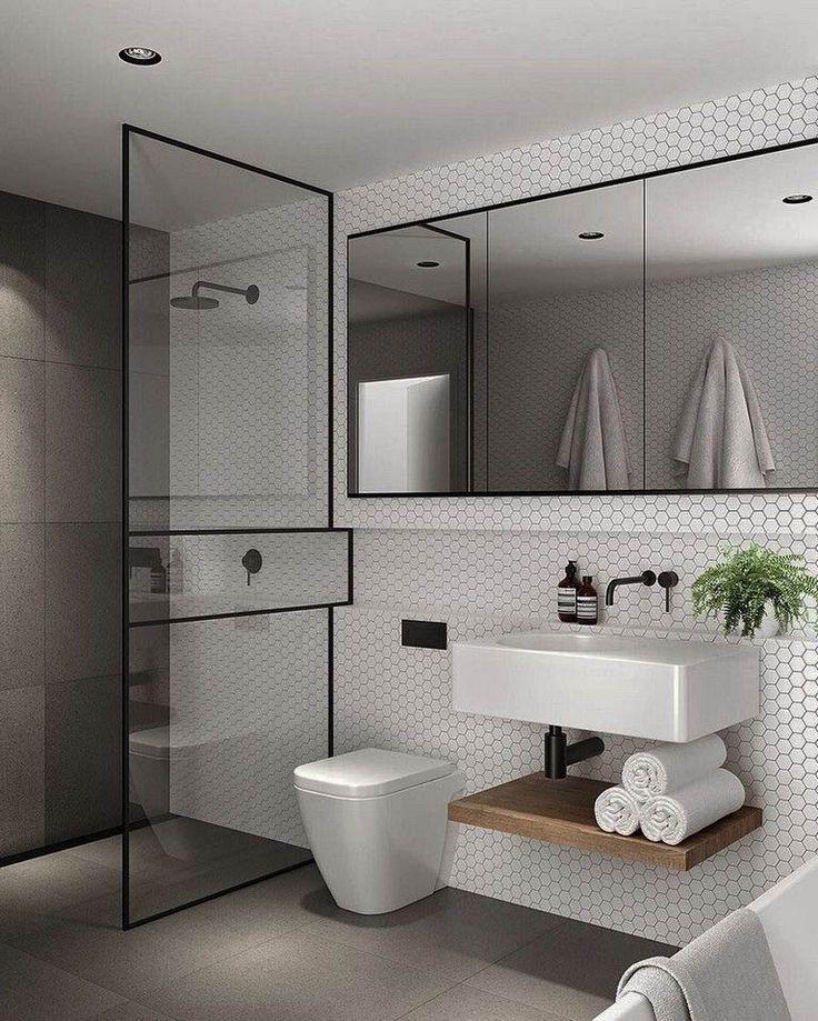 Inspiring modern farmhouse bathroom wall decor on this