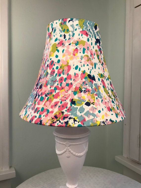 Boho Lamp Shade Eclectic Lamp Shade Multi Color Lamp Shade Pink