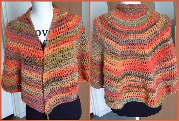Ronde omslag sjaal van Lina