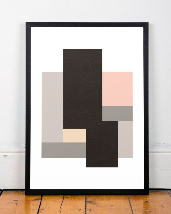 Affiche geometrico Poster moderno Arte par ShopTempsModernes