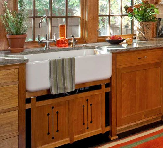 Red Birch Kitchen Cabinets: Sinks, Birch Cabinets And Cabinets On Pinterest