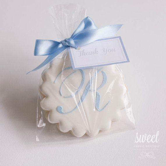 Monogram Cookie Favors  // One Dozen Sugar by sweetcookieboutique, $36.00