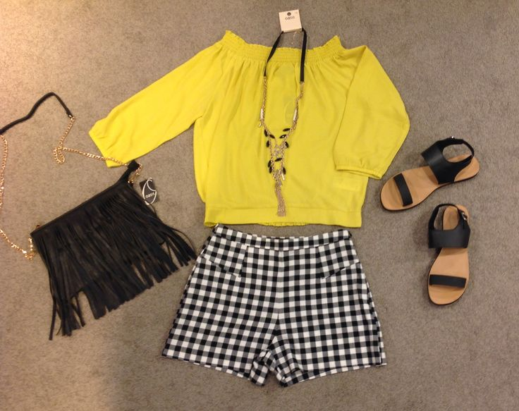 It's time to show off your shoulders in our bright yellow Bardot top # mypersonal stylist