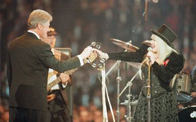 "THIS DAY IN ROCK HISTORY:  January 19, 1993:  Fleetwood Mac reunites to perform at President Bill Clinton's inaugral ceremony.   Their song ""Don't Stop"" was used during his campaign."