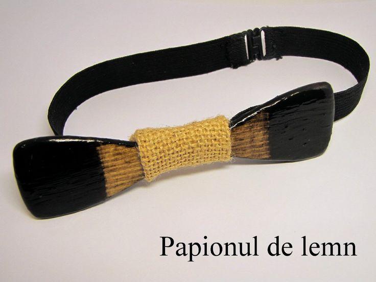 Bow tie Dark :: Papionul de lemn
