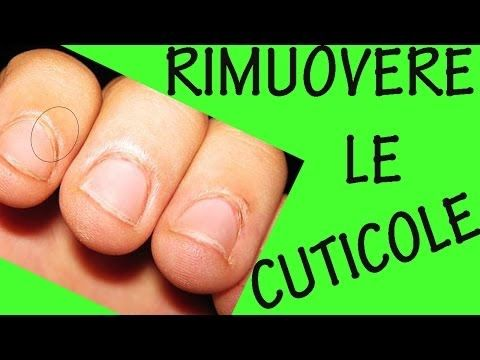 COME RIMUOVERE LE CUTICOLE! Sos unghie #9 - YouTube