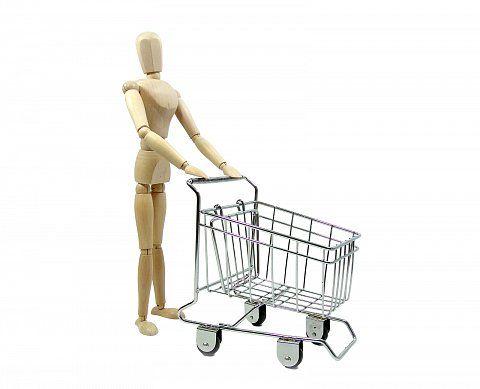 Konzeptbild - Shoppen Einkaufswagen leer