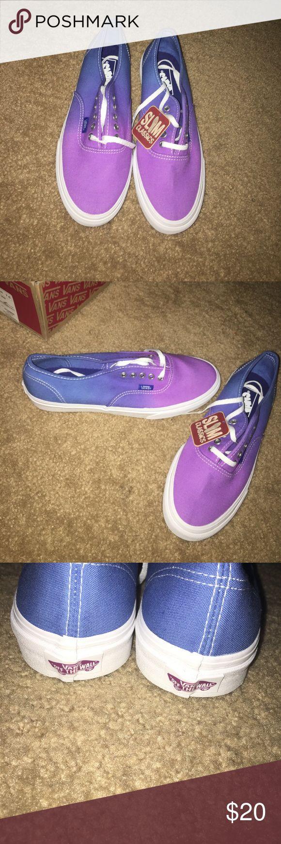 Ombré Vans Purple fades into blue Vans Shoes Sneakers