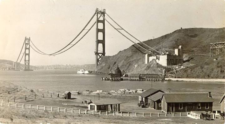 This week in the history of the Golden Gate Bridge: 81 years ago this week, construction was started on everyone's favorite bridge #ThrowbackThursday' 1-9-14  Photo via San Francisco Public Library