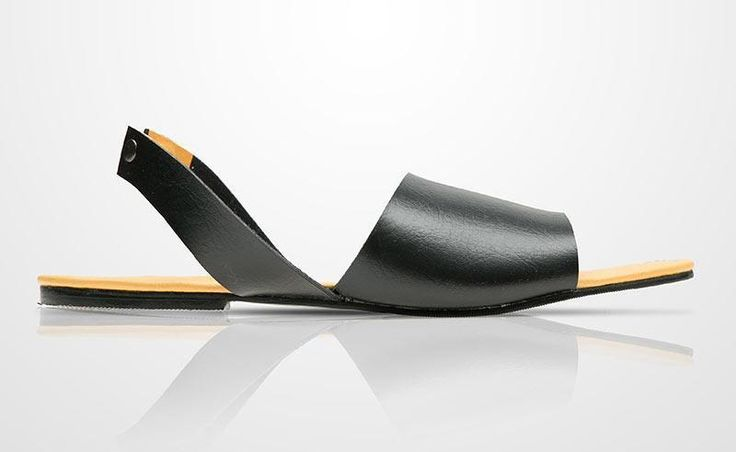 F21 Sandal by Prisky. Simple minimalist sandals with big front strap and ankle strap to secure at the back of the ankle. Simple sandals for a casual wear, perfect for a beach, this black sandal look so simple and comfortable.  http://www.zocko.com/z/JH15a