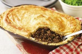 Tom Aikens' minced beef and onion pie with Guinness