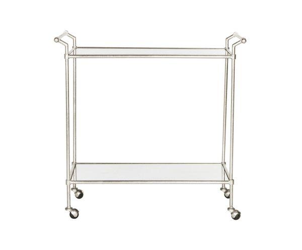 Сервировочная тележка - железо - серебристый, 78х45х76 см