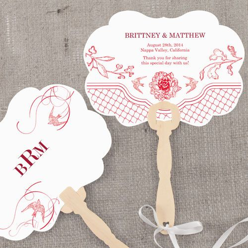 French Whimsy Hand Fan with Decorative Shape
