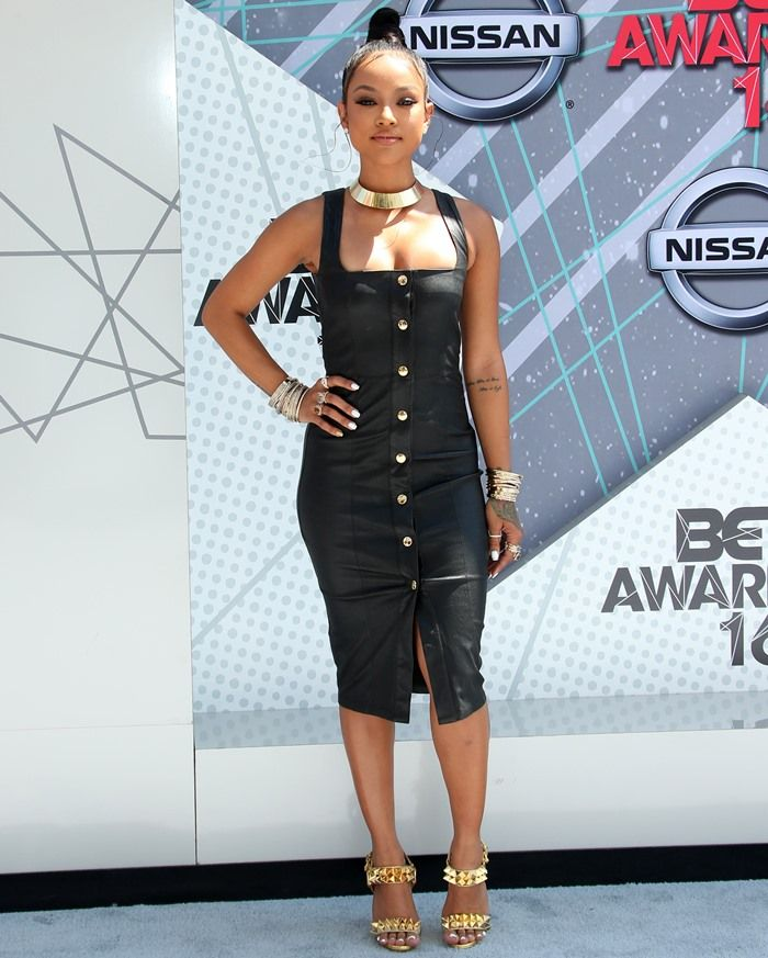 Karrueche Tran Wears Head-Turning Christian Louboutin \u0027Miziggoo\u0027 Sandals