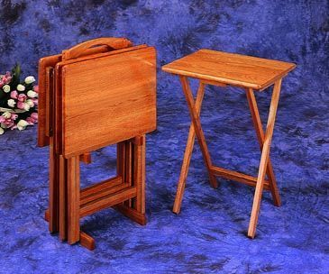 4 Pc Oak Finish Wood Tv Tray Table Set With Stand. Please see product details. 5 pc oak finish wood TV tray table set with stand Measures 14 x 19 x 26 ... & 58 best Tray Snack Tables images on Pinterest | Snack tables ...