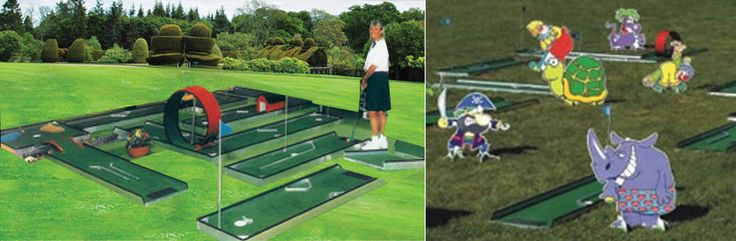 131 best mini golf images on pinterest golf courses for Indoor golf design
