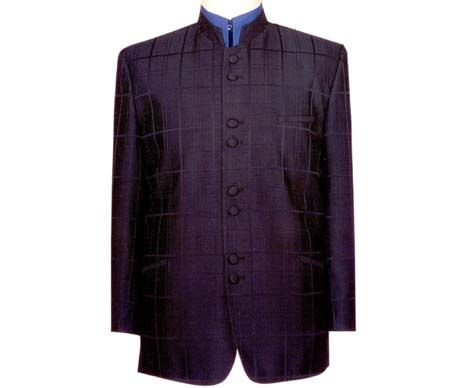 Nehru style jackets is of Indian origin (1940′s) and grew to some popularity in the 60-70′s in the Western world largely due to the Beatles. Now, we see it arise in the occasional Austin Powers movie.