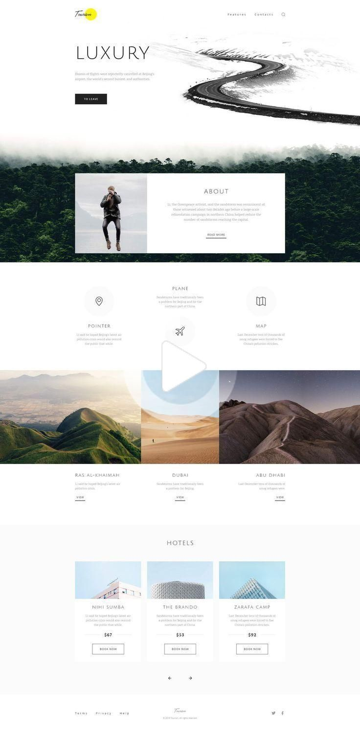 Tourism Website Template Xd Travel And Tourism Website Free Template For Adobe Xd Features Moder In 2020 Travel Website Design Tourism Website Web Design Inspiration