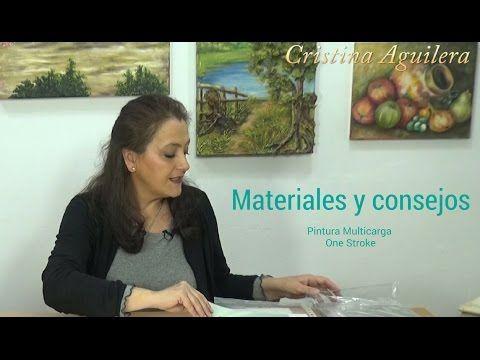 Materiales utilizados en la pintura One Stroke - YouTube